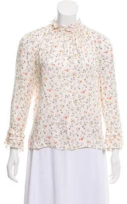 Rebecca Taylor Floral Silk Top