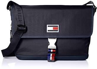 Tommy Hilfiger Messenger Bag for Men TH Sport Eyelets Ripstop