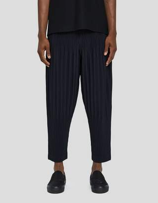 Issey Miyake Homme Plissé Basic Pleated Pants in Navy