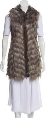 Rachel Zoe Sleeves Faux Fur Vest