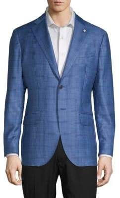 Lubiam Plaid Wool Sportcoat