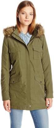 Jack by BB Dakota Women's Algonaut Microfiber Faux Fur Hood Coat