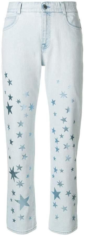 Jeans mit Stern-Print