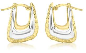 At Co Uk Carissima Gold Women S 9 Ct 375 Two Tone 14 5 X 18 Mm