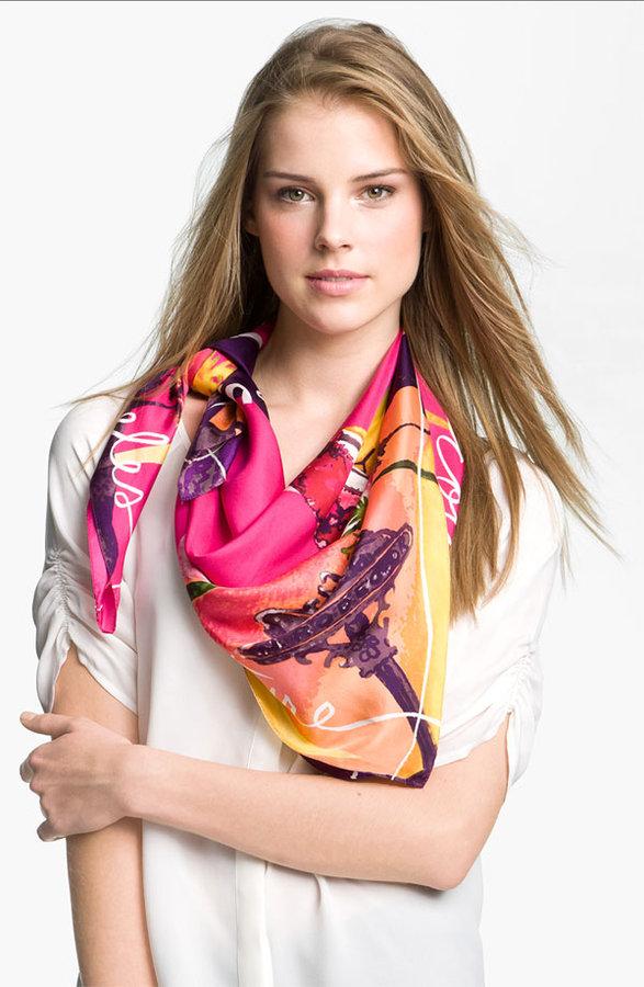 Juicy Couture 'LA' Silk Square Scarf