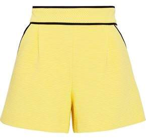 Moschino Ribbed Cotton-blend Shorts