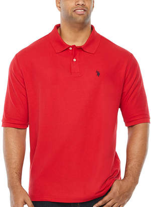 U.S. Polo Assn. USPA Embroidered Quick Dry Short Sleeve Knit Polo Shirt Big and Tall