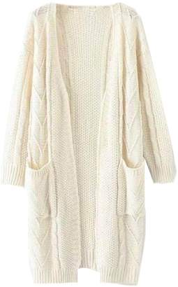 Goodnight Macaroon 'Raeven' Long Cable Knit Cardigan (2 Colors)