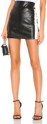 David Lerner Side Stripe Mini Skirt
