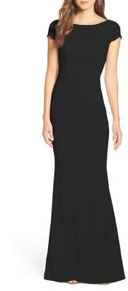 Katie May Intrigue Plunge Knot Back Gown