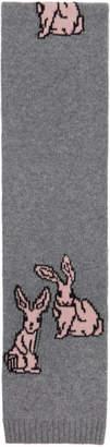 Prada Grey Rabbits Scarf