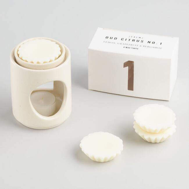 White Ceramic Wax Warmer and Scented Wax Tarts