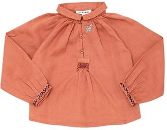 Embroidered Cotton Flannel Top