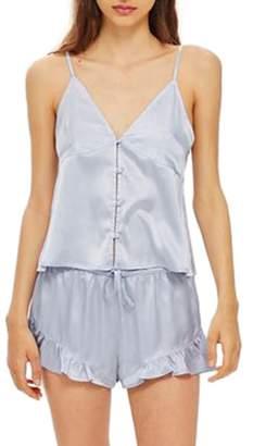 Topshop Lucina Satin Short Pajamas