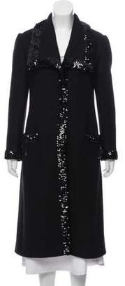 Dolce & Gabbana Embellished Wool Coat