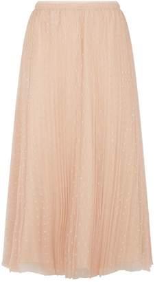 RED Valentino Tulle Polka Dot Midi Skirt