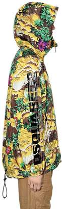 DSQUARED2 K-Way Hawaii Print Hooded Nylon Jacket