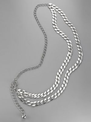 City Style Silver Chain Belt
