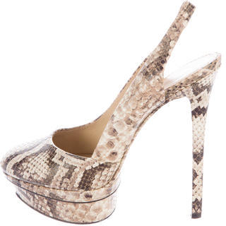 B Brian Atwood Embossed Leather Platform Pumps $125 thestylecure.com