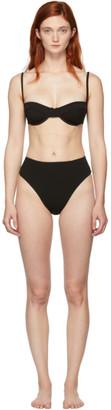 Haight Black Crepe Vintage Bikini
