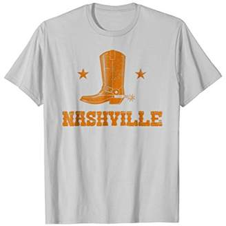 Nashville TN Cowboy Boot and Spur Distressed T-shirt