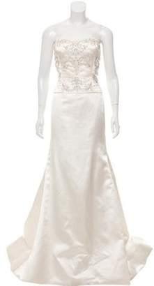 Reem Acra Embellished Wedding Gown Embellished Wedding Gown