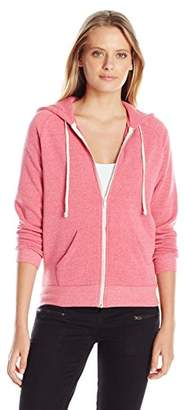 Alternative Women's Adrian Fleece Zip Front Hoodie Sweatshirt