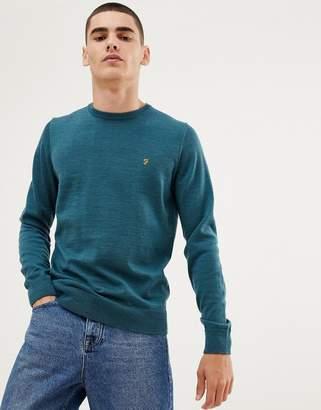 Farah Mullen merino wool sweater in green