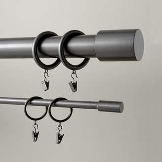 west elm Round Metal Curtain Rings (Set Of 7) - Gunmetal