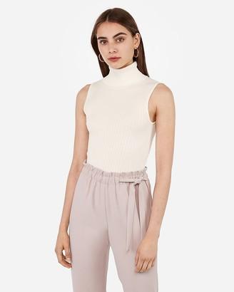 Express Sleeveless Ribbed Turtleneck Sweater