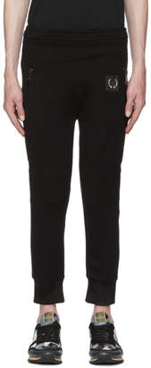 Neil Barrett Black Travel Pierced Lounge Pants