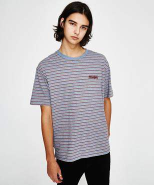 Wrangler Vedder T-shirt Blue Red Stripe