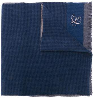 Canali embroidered scarf