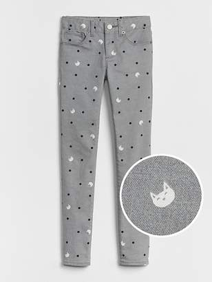 Gap Superdenim UV Cat Print Super Skinny Jeans with Fantastiflex