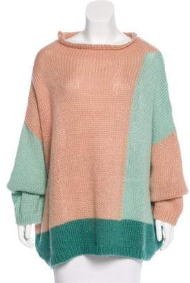 Collection Privée? Open-Knit Mohair Sweater w/ Tags