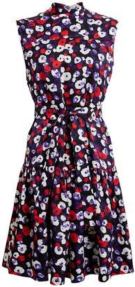 Derek Lam Mock Neck Floral Dress