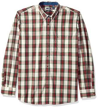 Izod Men's Big and Tall Long Sleeve Tartan Non Iron Plaid Shirt