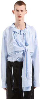 Y/Project Oversize Cotton Blend Shirt W/ 4 Sleeves