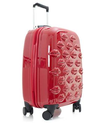 Lulu Guinness Small Lips Hardside Spinner Cabin Case Colour: RED, Size