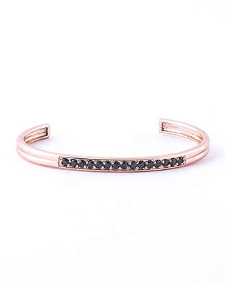 Jared Lang Men's 14k Rose Gold-Plated Zircon Cuff Bracelet