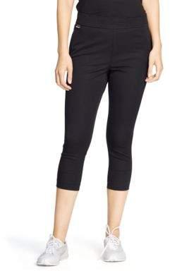 Lauren Ralph Lauren Cropped Stretch-Cotton Leggings