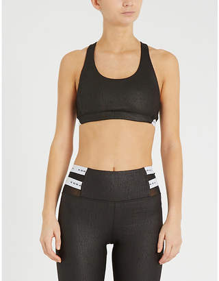 Koral Obscure coated jersey sports bra