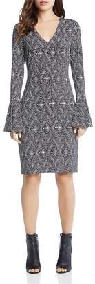 Karen Kane Graphic Print Bell Sleeve Dress