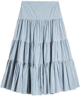 Caroline Constas Gingham Cotton Skirt
