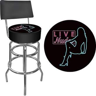 Trademark Global Shadow Babes - D Series - High Grade Padded Bar Stool with Back