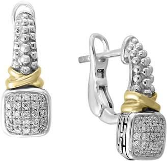 Effy 925 Sterling Silver and 0.15K Diamond Omega Earrings