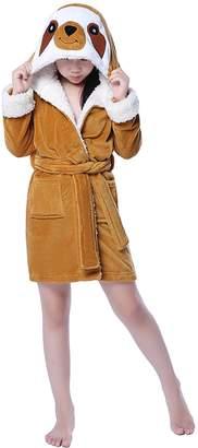 SWEETXIN Children Pajamas Plush Robe Bath Robes Costume (L/XL, )