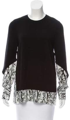 Yigal Azrouel Pleated Long Sleeve Top