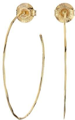 Robert Lee Morris Medium Hammered Wire Hoop Earrings Earring