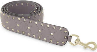 Valentino Rockstud quilted nappa leather bag strap, Poudre